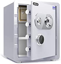 JBAMQ Safe Box Keypad Safe, Steel Electronic Digital Security Safe Box Fireproof and Waterproof Safe for Home Office Hotel...