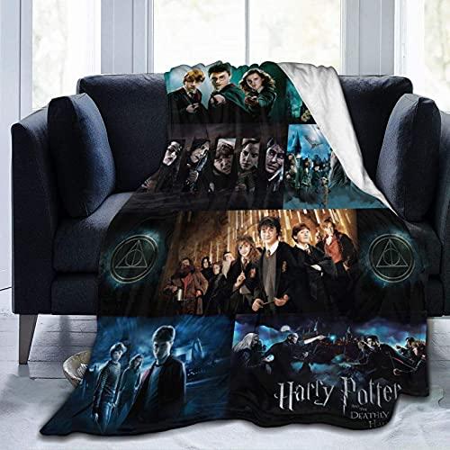 Manta de franela Harry Magic Potter, manta de lujo ultra suave de microfibra para cama, sofá, silla, dormitorio, viaje