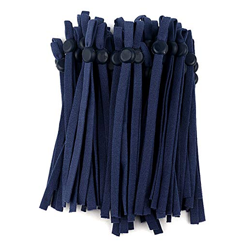OKX 50 Pcs Elastic String Bands, Pain Relief String Earband with Adjustable Buckle for Masks