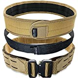 Bear Armz Tactical Battle Belt   Molle Riggers Belt   Duty Belt   Heavy Duty Anti-Slip Pad & Inner Belt Comb   2-In-1 Belt System   Military, Range and Training Applications