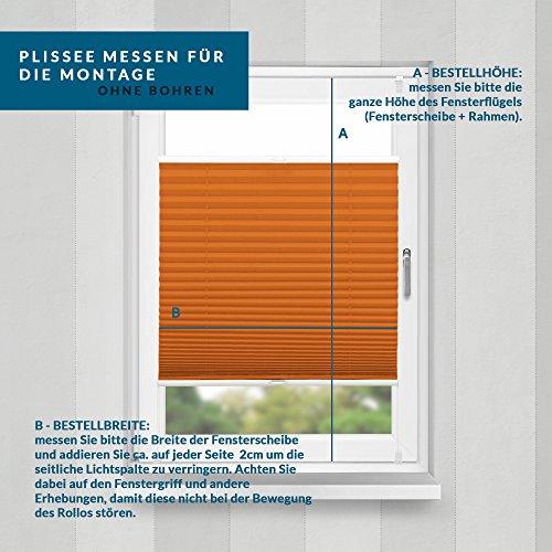 Plissee Orange HOME-VISION - 9