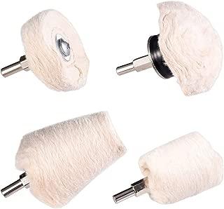 Cotton Polishing Wheel Set of 4, Buffing Wheel Durable Premium Cotton Buff Wheel for Metal Aluminum Chrome Wood Plastic