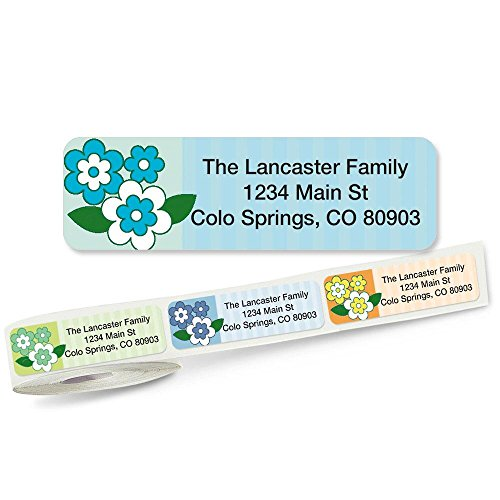 Flower Frenzy Rolled Address Labels (5 Designs) Roll of 250