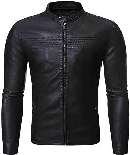 Men Leather Jacket, Beautyfine Autumn Winter Biker Motorcycle Zipper Casual Outwear Coat