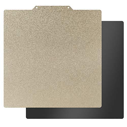 HICTOP Plataforma de acero flexible con superficie PEI y lámina inferior magnética con adhesivo 3M 9448A 235x235mm para impresoras 3D Ender-3 Pro, Ender-3 V2, Ender-3