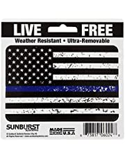 Sunburst Systems 6024 Blue Line Flag Decal, 1 ct, Assorted