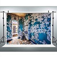 HiYash 5x3ft 古い刑務所の背景テーマパーティーバナー小道具誕生日パーティー赤ちゃんの誕生日の装飾バナー美しい記憶の家の装飾広く使用されている背景やアートワーク
