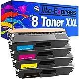 PlatinumSeries 8x Toner Cartridge XXL compatible con Brother TN-421 TN-423 DCP-L8410CDN DCP-L8410CDW HL-L8260CDW HL-L8360CDW MFC-L8690CDW MFC-L8900CDW | Negro cada 6,500 páginas, Color 4,000 páginas.