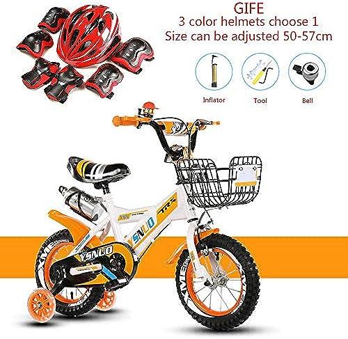 WSYY-fürrad Kinderfürr r Faltrad Rahmen aus Kohlenstoffstahl, Geschenkhelm-Set,A,16