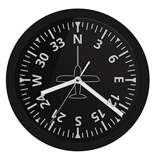 AXEF Medidores de Aviones Instrumentos de Cabina Aviación Iluminación LED Reloj Control de avión Luminoso Reloj de Pared Piloto Decoración para el hogar Mesa
