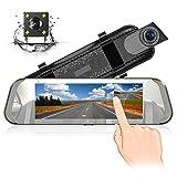 Cámara de Coche Dash 7 Pulgadas IPS Pantalla Táctil HD 1080P con 170 °Gran Angular Gran Angular...