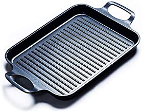 S·KITCHN Nonstick Grill Pan, Induction Stove Top Grill Plate, Grill Top for Stove, Grilled Pan for Stovetop, Grilling Pan for Indoor, Glass Top Grill Skillet, Gas Range Grill Panel