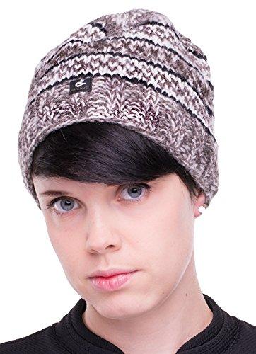 FEINTWIRN Santosh muts wintermuts van 100% wol met binnenfleece voor dames en heren