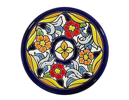 Platos Decorativos para Pared, Pintados a Mano con la técnica de la Cuerda Seca 9 CM. Cerámica Andaluza.50914