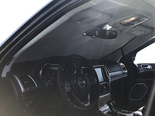 HeatShield, The Original Windshield Sun Shade, Custom-Fit for Jeep Grand Cherokee SUV w/Sensor 2017, 2018, 2019, 2020, 2021, Silver Series