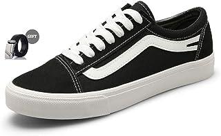 XINYIDU Men/Women Low-Cut Canvas Shoes+Belt Casual Sneaker Sports Shoes Wear-Resistant Non-Slip