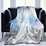 HXJIULI Throw Blankets for Couch Sherpa Fleece Blanket Faux Fur Blanket Super Soft Blanket Bed Warm Blanket Angel Healingfor Bed and Living Room50 X40