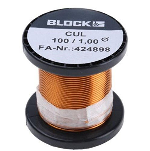Block Cul 100/1,00 Kupferlackdraht Kupfer-lackdraht Wickeldraht Kupfer Draht Durchmesser 1,00mm Gewicht 100g
