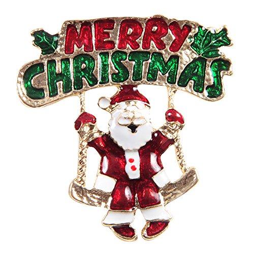 CHIC-CHIC Bijou Broche en Alliage pour la Soirée Noël Cadeau de Noël Décoration Fête Christmas (Pere Noël)