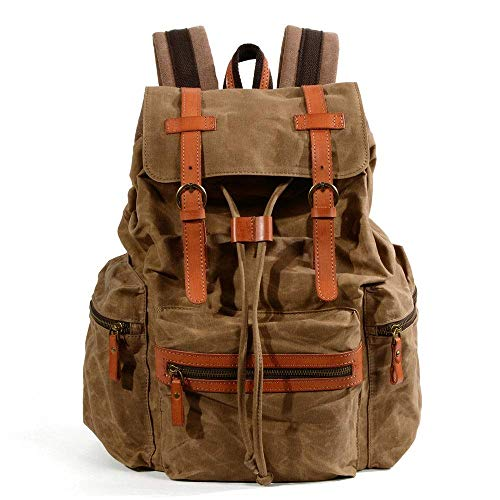 Large-capacity College School Bag Men's and Women's Casual Backpack Canvas Bag Laptop Backpack Work Travel Bag