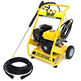 Wolf Petrol Pressure Washer 3000psi 200bar 6.5HP Jet Power Washer with 15m Hose Yellow 2 Year Warranty