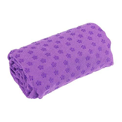 Lisansang Esterilla De Yoga 183x63cm Mats De Yoga De Fitness Sin Deslizamiento Super Suave Pilates Toalla Manta Pilates (Size:183 * 63cm ; Color:Purple)