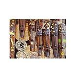 Lefgnmyi Máscara de mujer Religión Carteles e impresiones Lienzo Pintura Arte de la pared Impresión Maya Máscara mexicanaSala de estar vintage Decoración para el hogar-24x32 IN Sin marco