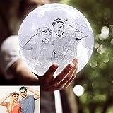 ACED Lámpara de luna personalizada con foto y texto,3 color