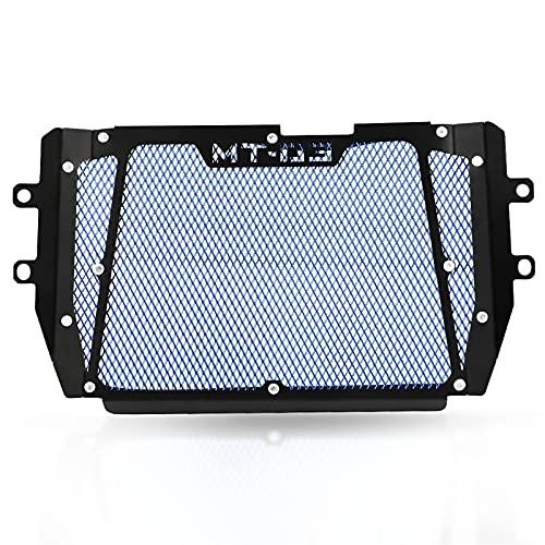 Parrilla del radiador Protector de Cubierta de la Cubierta de la Rejilla del radiador de la Motocicleta para YA-MA-HA para MT03 MT 03 2015-2021 (Color : Azul)