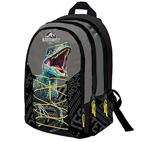 Jurassic World Zaino Scuola Organizzato 3 Cerniere