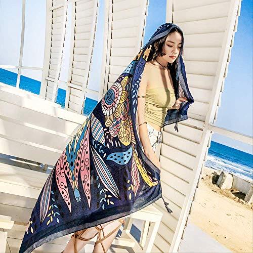 DDMY Damesmode voorjaar en zomer nationale wind katoen en linnen sjaal zonnecrème sjaal reizen vakantie strandhanddoek accessoires