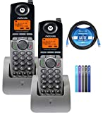 Motorola ML1200 DECT 6.0 Expandable 4-Line Cordless Handsets with Digital Receptionist and Voicemail (2-Pack) Bundle...