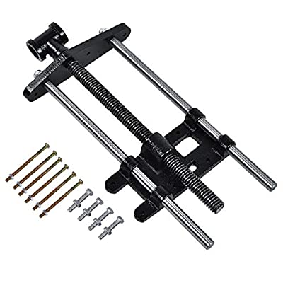 Woodworking Vise, 10.5 inch Heavy Duty Screws Woodworking Bench Vise Metal Clamps for Woodworking Engineering and Welding from Zerone.