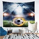 LoveTapestry EIN Heimtextilien Fußball Wandteppich Wandbehang Sandstrand Picknick Wurfdecke Decke Zelt Schlafen Pad-200X150Cm