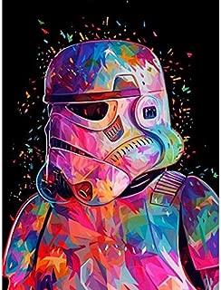 Diy Oil Painting Con Marco De Madera Pintura Por Números Diy Star Wars Comando Fresco Figura Lienzo Decoración De La Boda Imagen Del Arte Regalo