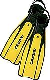 Cressi Pro Light Open Heel Tauchen Flossen, Schwarz/Gelb, XS/S (37/39)