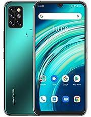 【進化版】UMIDIGI A9 Pro スマートフォン本体 Android 10.0 スマホ本体 6.3 FHD+フルスクリーン SIMフリー スマホ 本体 48MP+16MP+5MP 4眼カメラ 4150mAh 6GB RAM + 128GB ROM オクタコア グローバルバージョン 顔認証 指紋認証 技適認証済 (フォレストグリーン)