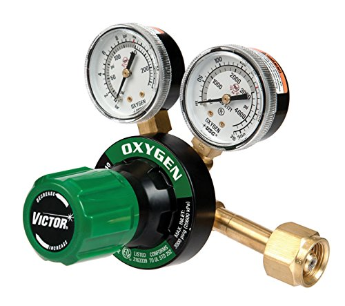 Victor Technologies 0781-9415 G350-150-540 Heavy Duty Single Stage Oxygen Regulator, 150 psig Delivery Range, CGA 540 Inlet Connection