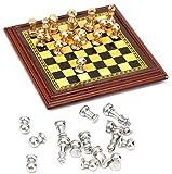 ARUNDEL SERVICES EU Escala 1:12 Juego de ajedrez de Metal en Miniatura Accesorios de casa de muñecas Juego de ajedrez Miniatura