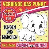 Verbinde das Punkt-Puzzle für Jungen und Mädchen Tier-Thema Punkt zu Punkt
