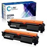 LxTeK Compatible Toner Cartridge Replacement for HP 30A CF230A 30X CF230X to use with Laserjet Pro MFP M203dw M227fdw M227fdn M203d M203dn M227sdn M227 M203Printer (Black, 2-Pack)