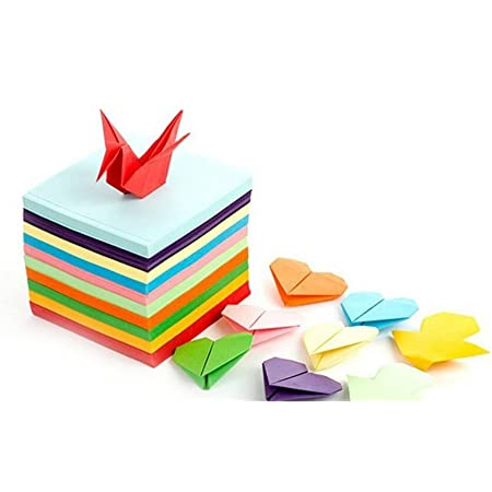 Same Color on Both Sides 7x7 cm Origami Folding Paper 520 Sheets 10 Vivid Colors Origami Square Paper for Arts and Crafts Origami Paper Double Sided Color