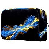 Bolsa de maquillaje de plumas abstractas de tela Oxford, bolso de monedero, organizador de cosméticos, multifuncional, hecho a mano, bolsa de tela para mujer