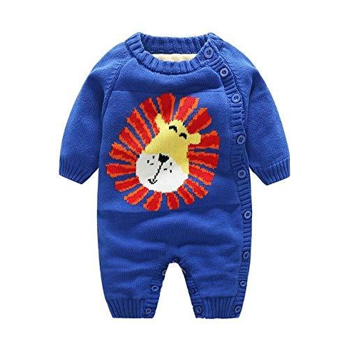 Tricoté Mode Nouvel an bébé Mignon Vêtements d'hiver Bébé À Manches Longues Chaud Barboteuses De Noël
