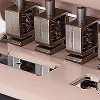 6枚A4紙多機能調節可能なキノコ穴あけ器紙キノコパンチツール家庭用オフィスに便利(pink)