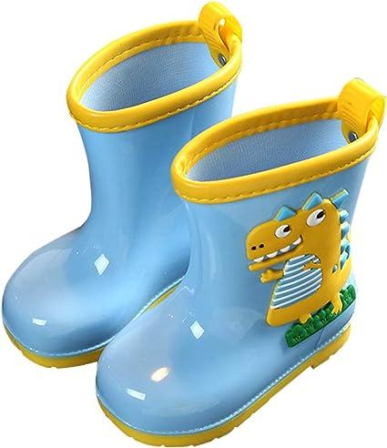 AMOJI Scarpe da Pioggia per Bambini Scarpe Impermeabili Leggere e Leggere YX16