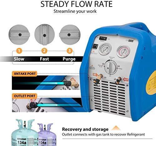 10.3 Height 11.38 Length 9.4 Width 115 Vac Appion G1SINGLE Refrigerant Recovery Machine 10 Amp 60 Hz