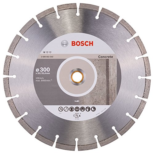 Bosch 2 608 602 543 - Disco tronzador de diamante Standard for Concrete (300 x 20,00+25,40 x 2,8 x 10 mm)