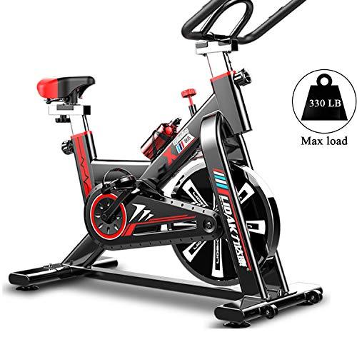 Yinhai Bicicleta Estacionaria para Interiores con Volante De Inercia De 13 LB, Bicicleta Estacionaria para Gimnasio En Casa con Monitor Digital, Carga Máxima De 330 LB,Negro,102 * 24 * 79 cm