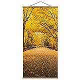 Bilderwelten Imagen de Tela - Autumn In Central Park - 100cm x 50cm, Material: Roble
